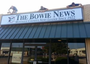 The Bowie News Sign