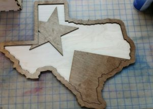 Texas Star and Stripes Laser Engrave