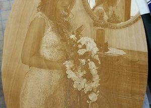 Wedding Photo Laser Engrave