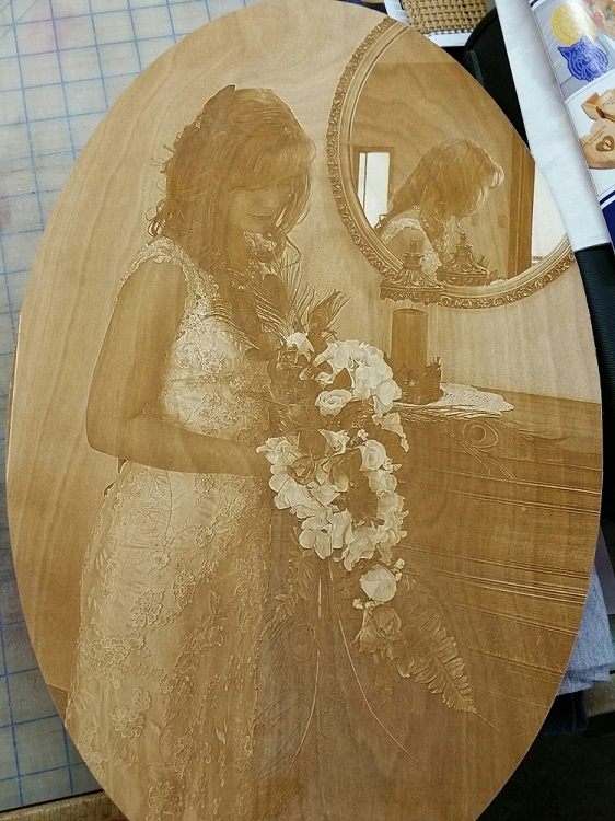 Wedding Photo Laser Engrave