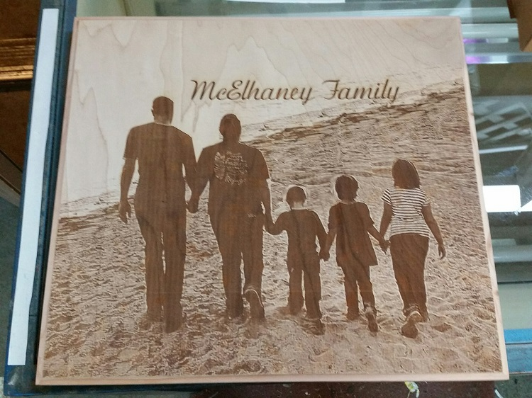 Family Photo Laser Engrave