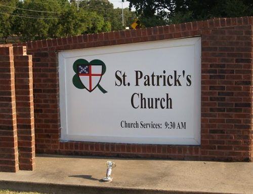 St. Patrick's Church Sign