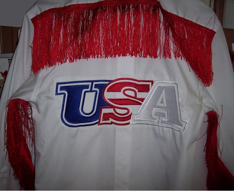 USA Shirt Embriodery