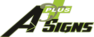 A Plus Signs & Embroidery Logo
