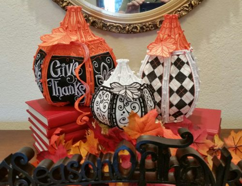 Black, Orange, and White Pumpkins Applique