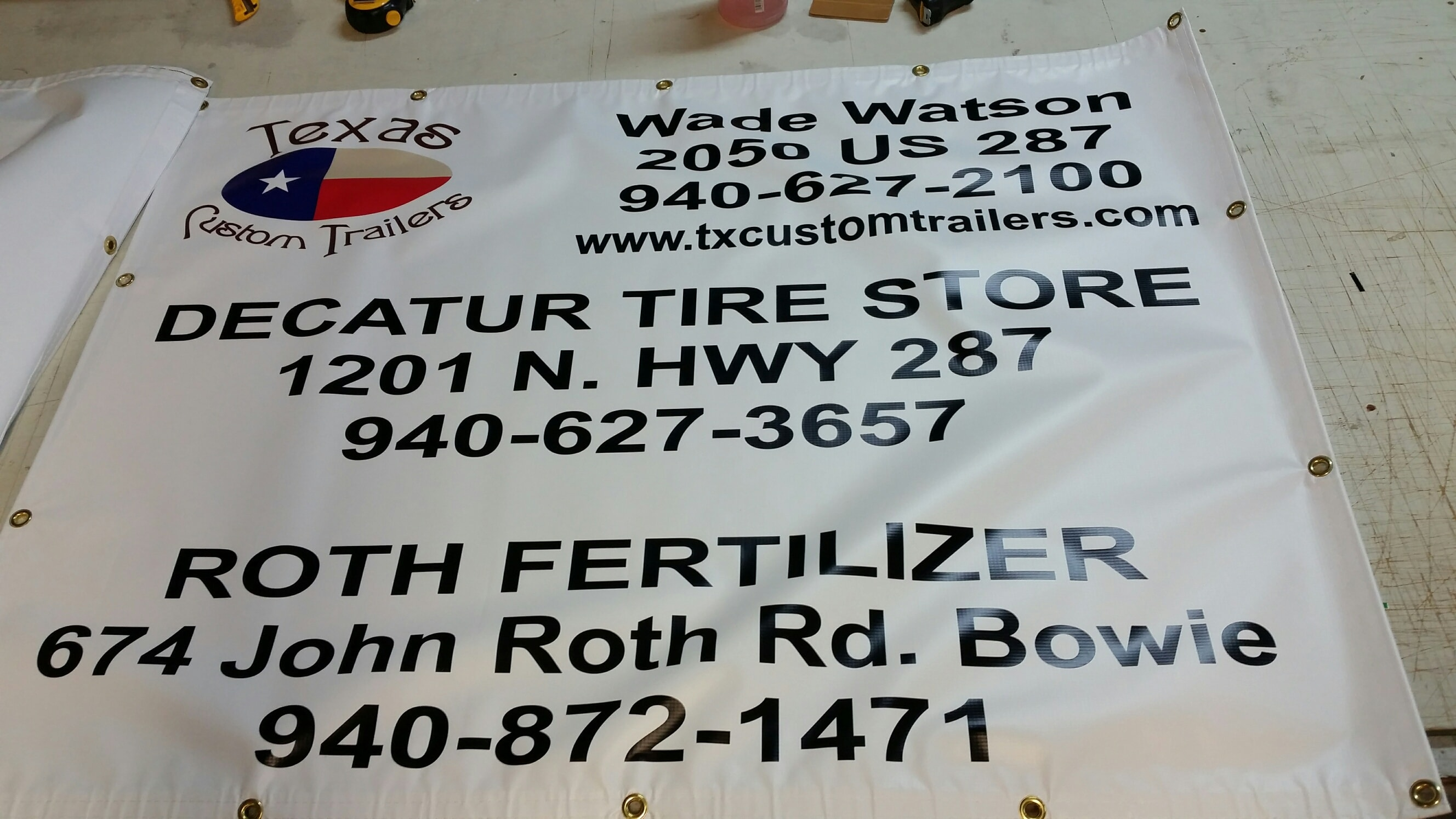 Texas Custom Trailers A Plus Signs Embroidery